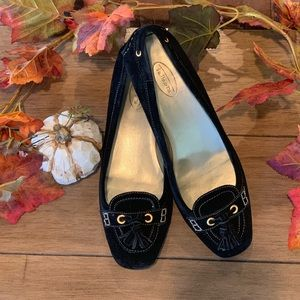Black Suede loafer with tassel 9 1/2
